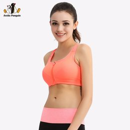 13facaee0f2f3  AP  Professional Sports Bra Top Vest Shockproof Women Sports Bra Push Up  Front Open Zipper Running Women Underwear