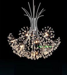 Wholesale Chrome Chandeliers - dining room modern crystal lighting chandelier living room modern led crystal chandelier kitchen leaf bedroom