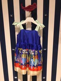 Wholesale Silk One Piece Dress - Kids Baby Girls Sleeveless One Piece Dress cartoon cats girl dress Summer Tutu Dress 1-5Y
