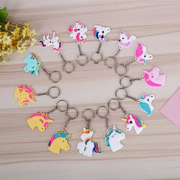 Wholesale japanese dolls for men - Durable Mini Key Chain For Men And Women Doll Unicorn Keys Buckle Cartoon Unicornio Keychain Hot Sale