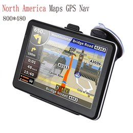 """Wholesale music maps - 7"""" Touch Screen Car GPS Navigation Bluetooth FM Transmitter 24V Car Music Player Charger for North America Maps GPS Nav"""