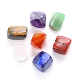 Wholesale crystal blocks wholesalers - Irregular Chakra Healing Stone Natural Crystal Multi Color Agatereiki Yoga Power India 7 Chakras Stones And Minerals 6 8cm Y