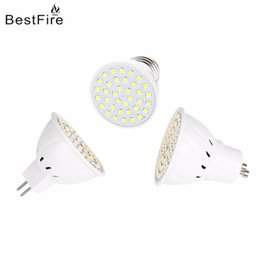 led smd mr16 7w Promotion Bestfire Ampoule LED Projecteur 3W 5W 7W MR16 GU10 E27 2835 SMD Lampe 110V 220V 12V 24V Bright Ampoule LED