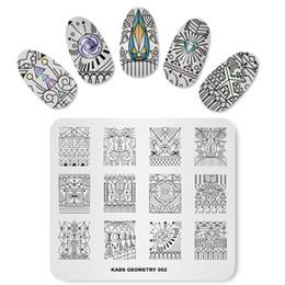 Пластины для ногтей онлайн-MISSGUOGUO 1 шт. 3d художественные оформления ногтей штамповка пластины штамповка ногтей искусство пластины изображения геометрический стерео рисунок ноготь штамп