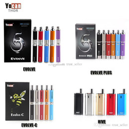 Wholesale black metals - Authentic Yocan Evolve-C Evolve-D Evolve Plus Hive Starter Kit Wax Dry Herb Pen Vaporizer 650 1100mAh Battery Thick Oil Wax Atomizer