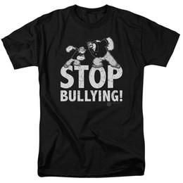 Женская рубашка онлайн-Popeye Stop издевательства футболки для мужчин, женщин или детей с круглым вырезом Лучшие продажи мужской рубашки из натурального хлопка ТОП ТИ