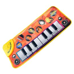 Wholesale Exercise Notebooks - ABWE Best Sale YiQu 1 orange ABS + printed circuit + nylon cloth cartoon finger touch electronic piano keyboard music blanket