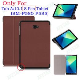 подставка для ручек Скидка Магнитный стенд pu кожаный чехол case для Samsung Galaxy 2016 Tab A6 10.1 с S Pen tablet SM-p580 p585 tablet funda случаях