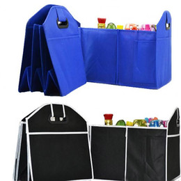 Wholesale Folding Trunk Organizer - Foldable Car Storage Boxs Bins Trunk Organizer Toys Food Stuff Storage Container Bags Auto Interior Accessories Case Can FBA Ship HH7-472