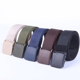 Wholesale free activities - 2018 5 colors of nylon Canvas belt, optional color, wholesale outdoor activities necessary belt, Gifts from friends,free shipping