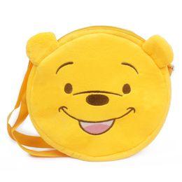 Zshop Yellow Bear Messenger Bag Saco de lona suave para niños de 1 a 3 años Kintergarden Single Shoulder desde fabricantes