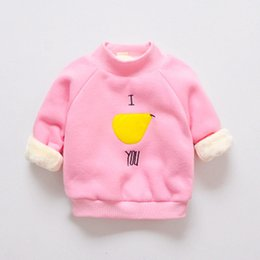 Wholesale wholesale childrens sweatshirts - Cola childrens sweatshirts warm clothing cute hoodies for girls kid long sleeve girl tops children winter hoodies top