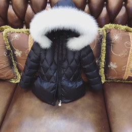 Wholesale 12 Month Girl Coat - 2017 New Girls Winter Jackets Kids Hooded Coats Thick 1-6Y Children's Warm Parkas Baby Brand clothes High quality Outdoor