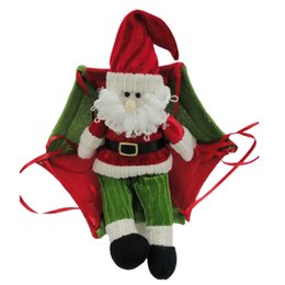 Wholesale christmas parachute santa - Christmas Decoration Pendant Non-woven Lovely Santa Claus Coming With Parachute Vintage -Christmas Ornament Decor Gifts