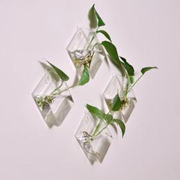 Diamante originale ipotenusa parete appesa vaso home decor moda creativa appeso serbatoio di pesce idroponica dispositivo di sistemazione dei fiori da