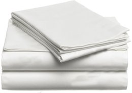 Wholesale Egyptian Cotton Sets - 100% Egyptian Cotton 1000 TC America Super King size 260 x 230 cm white gray color flat sheet 6 pieces set customize