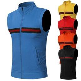 Wholesale Better Bodies - 2018 summer European men Vest clothing Cardigan formal tank tops cheap Split Joint Leisure Zipper Male Singlets gasp tight gym BETTER BODIES