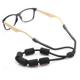 Cinghia di gomma piuma online-2018 New Adjustable Multicolor Schiuma galleggiante Sunglass Hold Strap Eyeglass Neck Strap Cordino Eyewear Cord Retainer