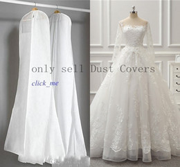 Wholesale Wedding Garment Bag Travel - 2015 Wedding Dress Gown Bags White Dust Bag Travel Storage Dust Covers Bridal Accessories For Brid Garment Cover Travel Storage Dust Covers