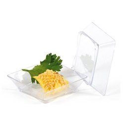 insalata monouso all'ingrosso Sconti Piatto di plastica usa e getta Clear Dessert Candy Piatto torta 58mm Mini Tasting Dish Festival forniture di nozze QW8281