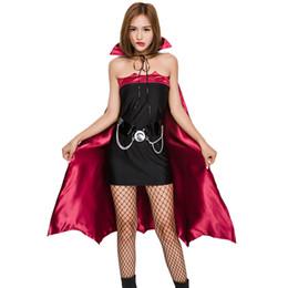 2019 disfraces de carnaval blanco nieve Mujeres Gótica Bruja Vampiro Traje Roles Jugar Cosplay Vestido + Cap Capa Masquerade Halloween Batwoman Cosplays