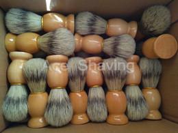 30 peças de falso texugo cor varrer cerdas cabelo de madeira lidar com barba barbeador de escova de
