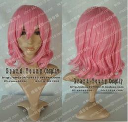 Projeto de Moda Lindo Cabelo Rosa Curto Peruca Cosplay de