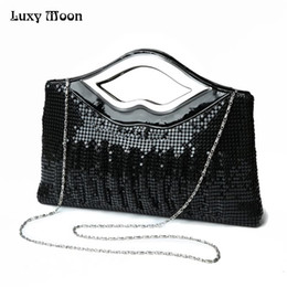 Wholesale Quilt Silver - Free Shipping 2017 New Luxury Paillette EveningBags High Quality Handmade Evening Cluth Bags in Sequin Beading Quilt Designer