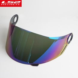 ls2 motorbike helmets Promo Codes - Face shield LS2 FF396 full face carbon fiber motocycle helmet external lens motorbike helmet Security Protection sun visor glass