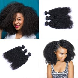 Wholesale Mongolian Kinky Curly Weave - Brazilian Kinky Curly Hair 3 Bundles with Closure Free Middle 3 Part Double Weft Human Hair Extensions Dyeable Human Hair Weave