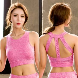7e8eaa2e08 sexy workout bras Australia - Women Sport Bra Brassiere Sport Top Fitness  Push Up Gym Workout