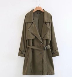 Wholesale Classic Khaki Trench Coat - ZANZEA Women's Double Button Trench Women's Long Classic Windbreaker Trench Coat Spring Autumn Outwear Office Lady Fashion Coat