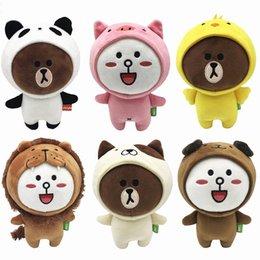 cony brown bear Australia - 6 Pieces lot 20 CM Beanie Boos Brown Bear Friends Six Styles Available Cony SALLY Plush Doll Toys Stuffed Gift Kids Toys Gifts