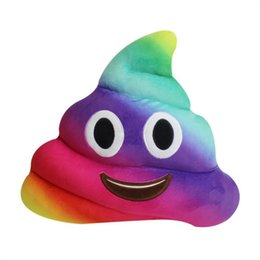 35 centimetri di colore cacca design mini carino cacca emoji emoticon cuscino cacca cuscino bambola giocattolo cuscino di tiro morbido peluche da felpe incappucciate fornitori