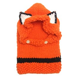 2019 bavaglini per bambini a maglia Bavaglino cappello carino volpe 2 pz / lotto maglia berretto invernale Europa e Stati Uniti nuovo cappello caldo bavaglini per bambini a maglia economici