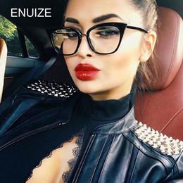 2019 lunettes plates Femmes Vintage Cat Eye Frame Plastique Lunettes Cadre Optiques Optiques Lunettes Verres Lentilles pour Femmes oculos feminino lunettes plates pas cher