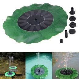 2019 водяные насосы для фонтанов Водяной насос на солнечной батарее Комплект Lotus Leaf Плавающий насос Фонтан Бассейн Садовый пруд Полив Погружные насосы для бассейна CCA9626 30шт дешево водяные насосы для фонтанов