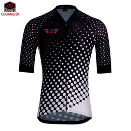 Wholesale Cycling Jersey Customize - Men cycling jersey white black short sleeve cycling clothing summer bicycle clothes mtb road bike wear Customized