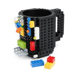 Wholesale Puzzle Steel - Creative Toys Drinkware Building Blocks Mugs Diy Block Puzzle Mug 1piece Build -On Brick Creative Mug Type Coffee Cup