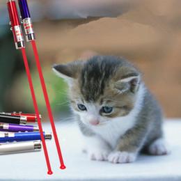 2in1 portachiavi penna puntatore laser rosso con LED bianco spettacolo portatile a infrarossi bastone gatti divertenti animali giocattoli con imballaggio al dettaglio 07040 da