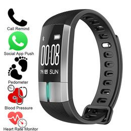 2019 реальный фитнес NEW Smart WristBand ECG Real-time Monitoring Blood Pressure Heart Rate Sport Fitness Tracker Bracelet Watch Smart Activity Band скидка реальный фитнес
