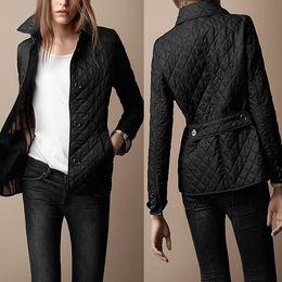 2019 chaqueta recta vintage 2016 Invierno Otoño Parka Cálido Chaquetas de Las Mujeres Botón Spandex Chaqueta de Bolsillo de Gran Tamaño Chaqueta Femenina Escudo Oficina Casual Top negro