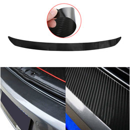Wholesale Protector Bumper Car - 1 Pcs 108x7cm Waterproof Carbon Fiber Rear Bumper Sticker Trim Protector For VW Golf MK6 GTI R20 Car Styling