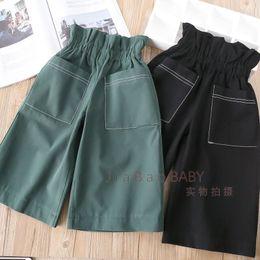 Wholesale Ruffle Leg Baby Pants - Spring Kids Girls Cotton Ruffles Wide Leg pants Baby Girls Casual Loose Trouser Babies Fashion Clothes 2018 Kids Clothing