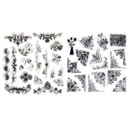 Wholesale Scrapbooking Card Making Supplies - Wholesale- DIU# 1PCS Flower vine Design Clear Transparent Stamp DIY Scrapbooking Card Making Decoration Supplies