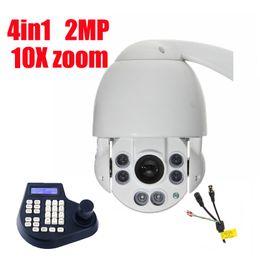 Wholesale Speed Dome Camera Waterproof - 4.5 inch 4in1 HD PTZ Camera 2MP Medium Speed dome Camera 10x zoom IR 50m Waterproof outdoor camera with control keyboard