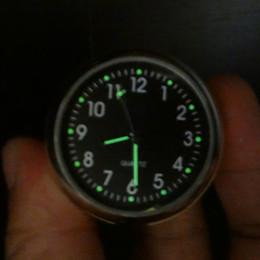 "Wholesale Fashion Bmw - Wholesale-Waterproof CNC Black Universal 7 8\\\"" Handlebar Mount Bar Quartz Clock Fashion Cool White Dial Watch Accessory"