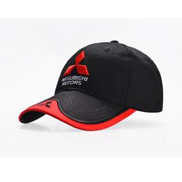 422ddf13f9b 2018-2019 NEW 3D Mitsubishi hat cap car logo moto gp moto racing baseball  cap hat adjustable casual red black trucket