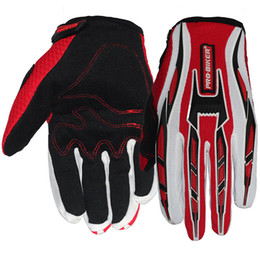 Wholesale Road Bicycle Winter Gloves - 4Colors Fox Cycling Motorcycle Racing Gloves Autumn Winter Full Finger Mountain MTB Road Bike Bicycle Anti-slip Riding Ciclismo