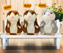 Wholesale Recording Stuff - Talking Hamster Talk Sound Record Repeat Hamster Stuffed Plush Animal Kids Child Toy Talking Hamster Plush Toys Christmas Gifts